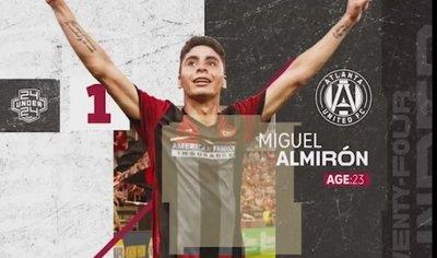 Miguel Almirón es elegido como el mejor jugador joven de la MLS