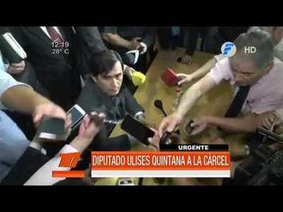 Diputado Ulises Quintana va a la cárcel