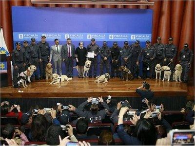 14 héroes de cuatro patas se jubilan en la Fiscalía de Colombia