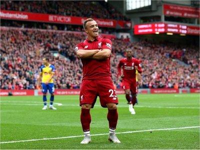 Liverpool sigue de dulce y arrasa al Southampton