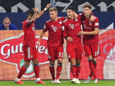 James abre el camino para la victoria del Bayern