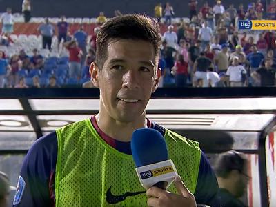 Víctor Cáceres fue la figura en la victoria de Cerro
