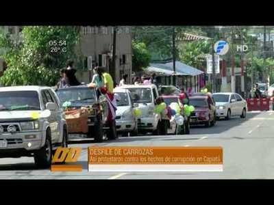 Capiateños marchan contra corrupción