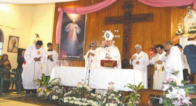 Conmemoran día de la Virgen de la Merced en Tacumbú