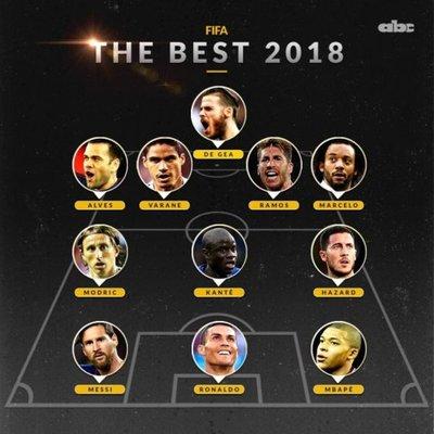 El once ideal del 2018