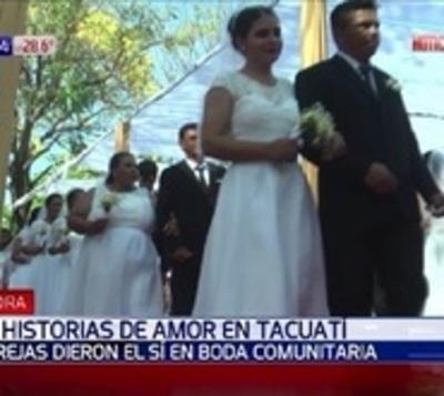 """El """"sí acepto"""" que unió a 55 parejas en Tacuatí"""