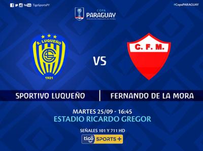 Sportivo Luqueño vs. Fernando de la Mora es la cita