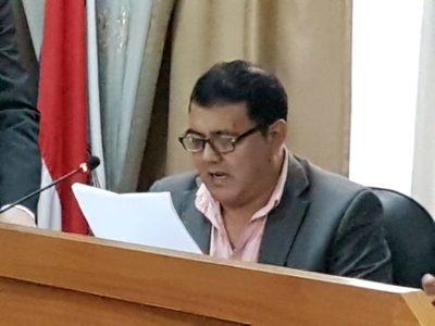 Hugo Lezcano presenta minuta donde pide que las comisiones asesoras sigan siendo integradas por los mismos