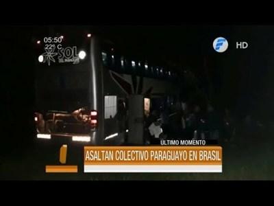 Asaltan bus paraguayo en Brasil