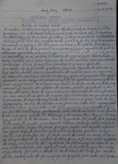 Compatriotas siguen clamando cumplir sentencia en Paraguay