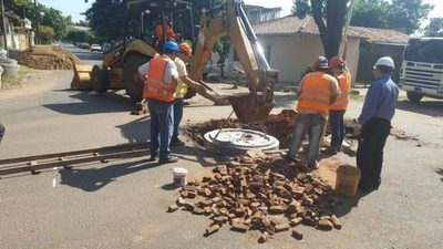Nuevos frentes de trabajos de alcantarillado sanitario en San Lorenzo