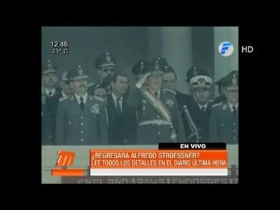 Stronistas quieren repatriar los restos del dictador