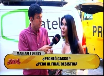 """Mariam Torres abandonó entrevista con """"TeleShow"""""""
