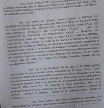 Denuncian a Carlos Coronil y nueve concejales
