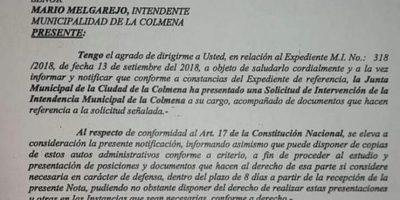 Ministerio del Interior notifica al intendente de La Colmena para que presente documentos