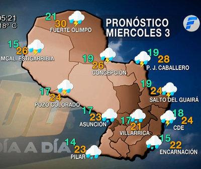 Anuncian más lluvias para hoy