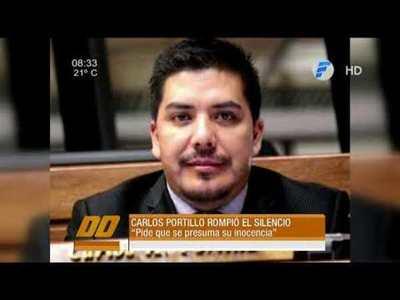 El diputado Carlos Portillo rompió el silencio