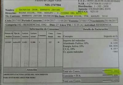 La factura de Zacarías Irún que se hizo viral – Prensa 5
