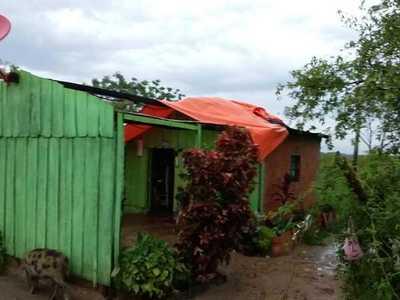 Temporal causó algunos destrozos en el distrito de Loreto