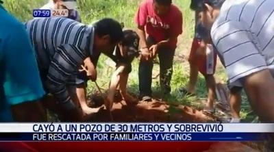 Joven sobrevive tras caer a un pozo de 30 metros