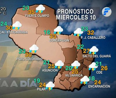 Precipitaciones y tormentas eléctricas moderadas