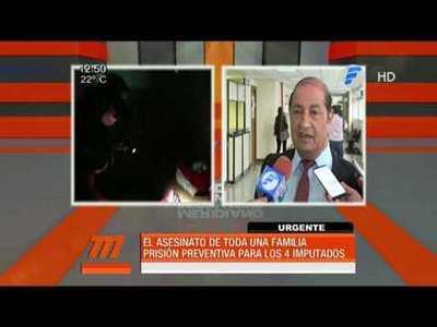 Prisión para imputados por quíntuple homicidio en Asunción