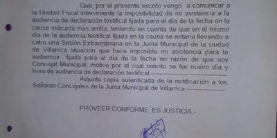 Carlos Coronil y Rúben Martínez presentaron certificados médicos y no declararon en la fiscalía