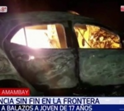 Hallan incinerado el vehículo de joven desaparecido en Amambay