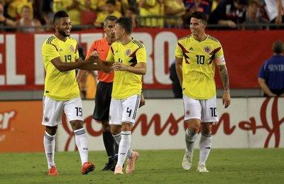 Exhibición y triunfo de Colombia