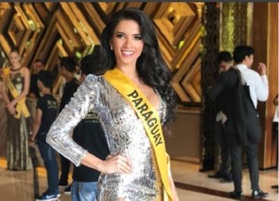 La Miss Clara Sosa presentó su traje alegórico en el Miss Grand International