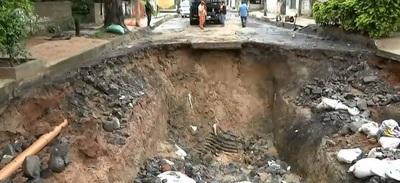 """Advierten sobre """"gigantesco cráter"""" en Asunción"""