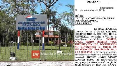 LIBRAN ORDEN DE CAPTURA CONTRA DESPACHANTE DE ADUANA.