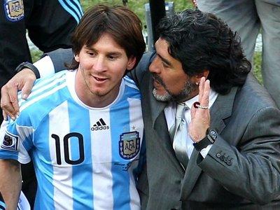 Diego Maradona trató de uno más a Lio Messi
