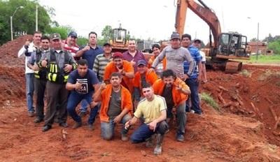 MOPC repara tramo clausurado en Caaguazú
