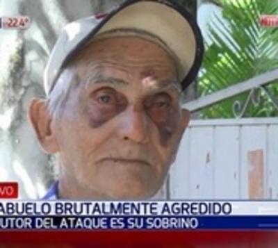 Abuelo dijo a su sobrino que ya no beba y recibió una brutal paliza