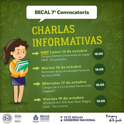 Prosiguen con charlas informativas sobre la 7ª Convocatoria de Becal