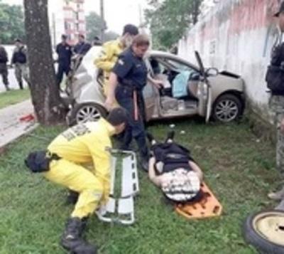 Huyó de alcotest y ocasionó un tremendo accidente