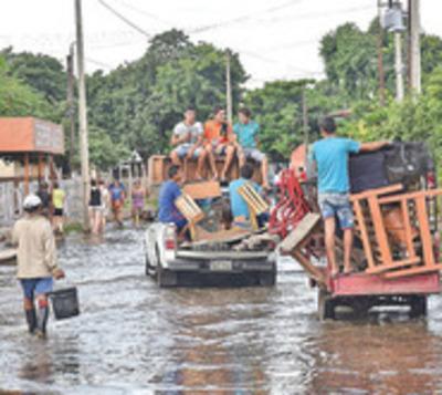 Nivel del río Paraguay es más alto que el pico de alerta en Asunción