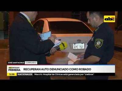 Recuperan auto denunciado como robado