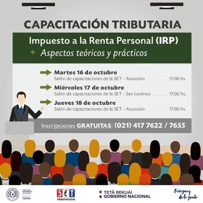 SET continúa con charlas gratuitas sobre el IRP