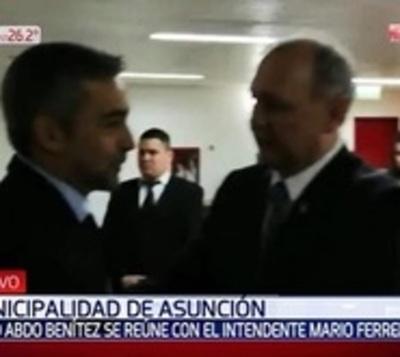 Mario Abdo visita la Municipalidad de Asunción
