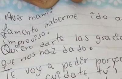 La conmovedora carta de una niña de 12 años que se fugó de la casa con su hermana de 5
