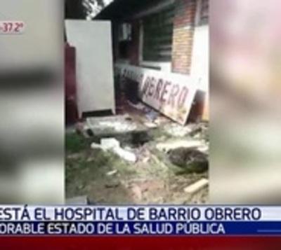 Cloacas y basura deja en estado insalubre el Hospital de Barrio Obrero