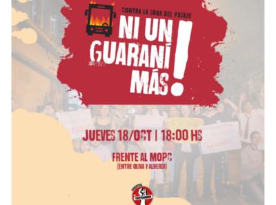 Convocan a protesta contra suba del pasaje – Prensa 5