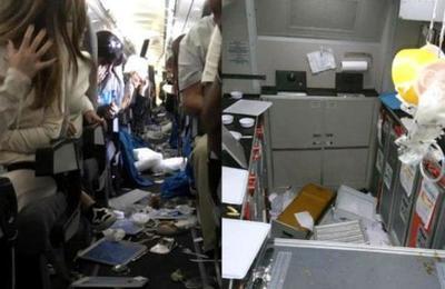 Fuerte turbulencia hizo caer un avión en picada y causó terror entre los pasajeros