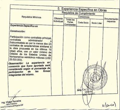 Exfuncionario del MOPC incrimina al vice de Obras en alteración de PBC