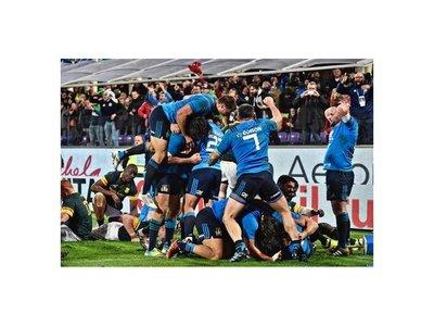 Italia gana por primera vez en su historia a Springboks