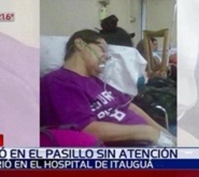 Mujer murió en el pasillo de un hospital esperando una cama