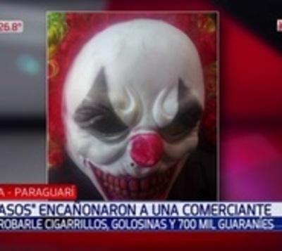 """""""Payasos"""" asaltan un comercio en Paraguarí"""