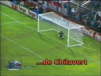 """En Hungría """"reeditan"""" el gol de Chilavert a Burgos"""